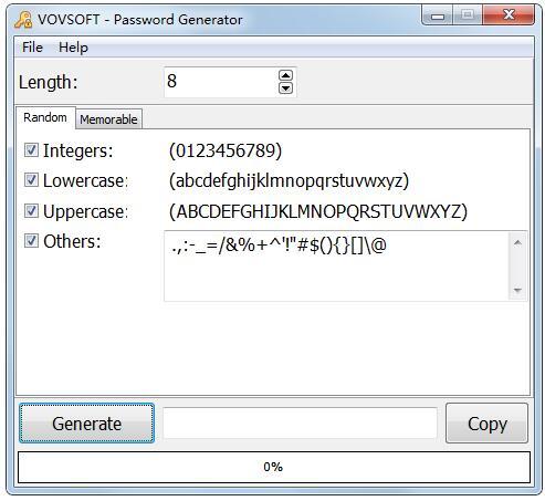 Vov Password Generator