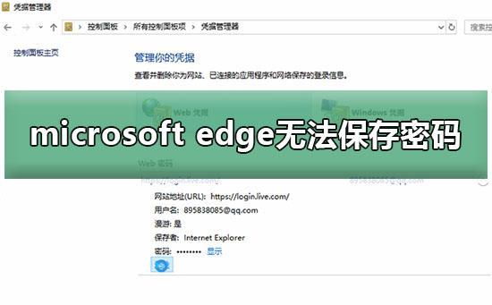 edge浏览器无法保存密码怎么办