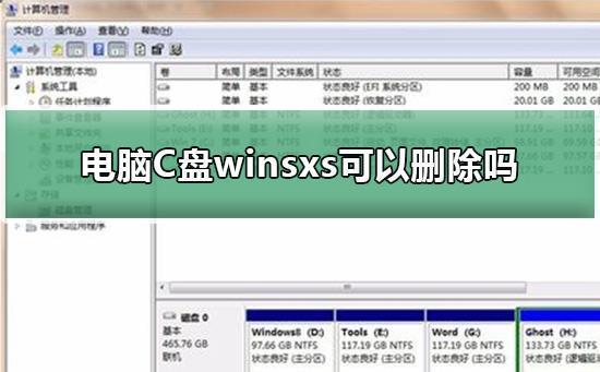 电脑C盘winsxs文件夹可以删除吗?