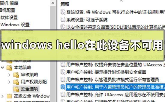 如何解决windows hello在此设备上不可用的问题