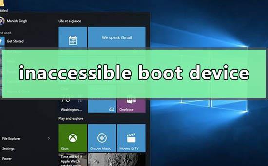 win10电脑提示inaccessible boot device无法进入系统怎么办
