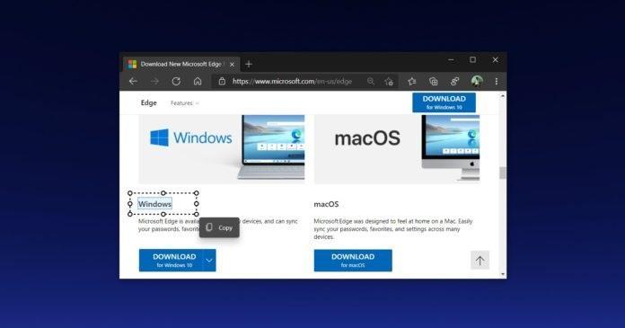 """微软 Edge 浏览器测试 """"智能复制""""功能:可直接复制网页表格"""