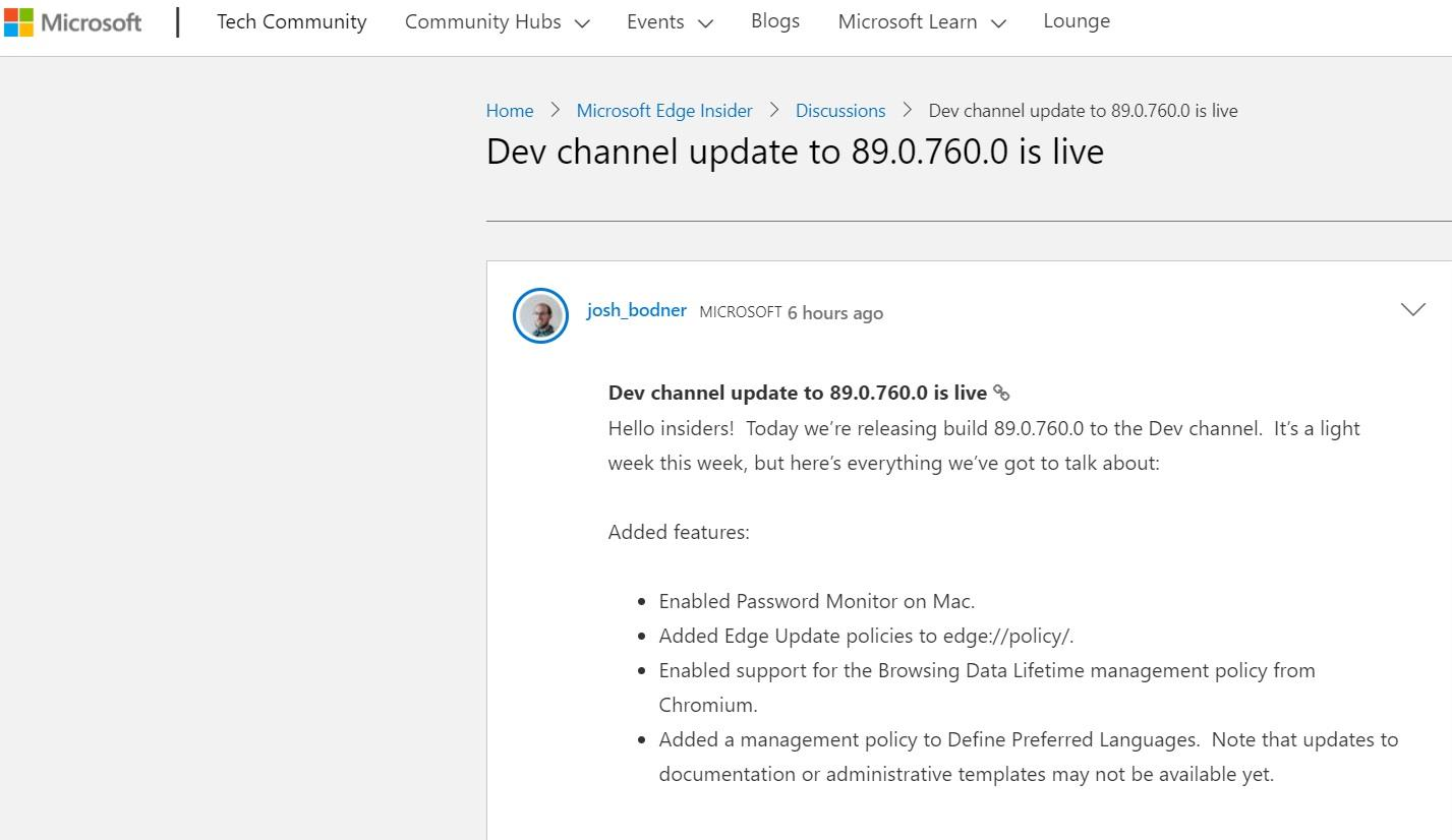 微软 Edge 浏览器 Mac 预览版更新发布:添加密码监视器功能