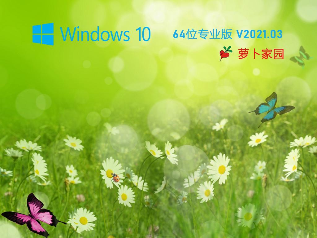 萝卜家园 Ghost Win10 64位 纯净版 V2021.03