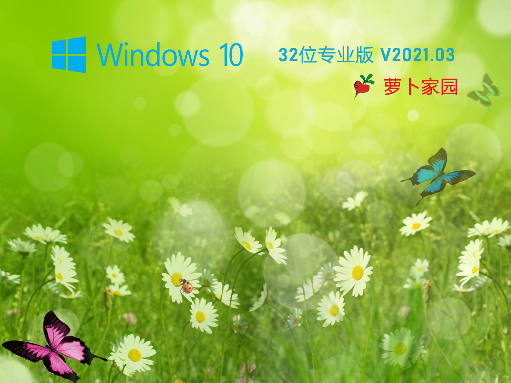 萝卜家园 Ghost Win10 32位 纯净版 V2021.03