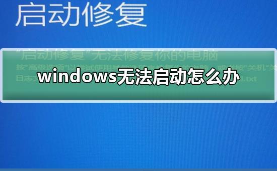 windows无法启动怎么办