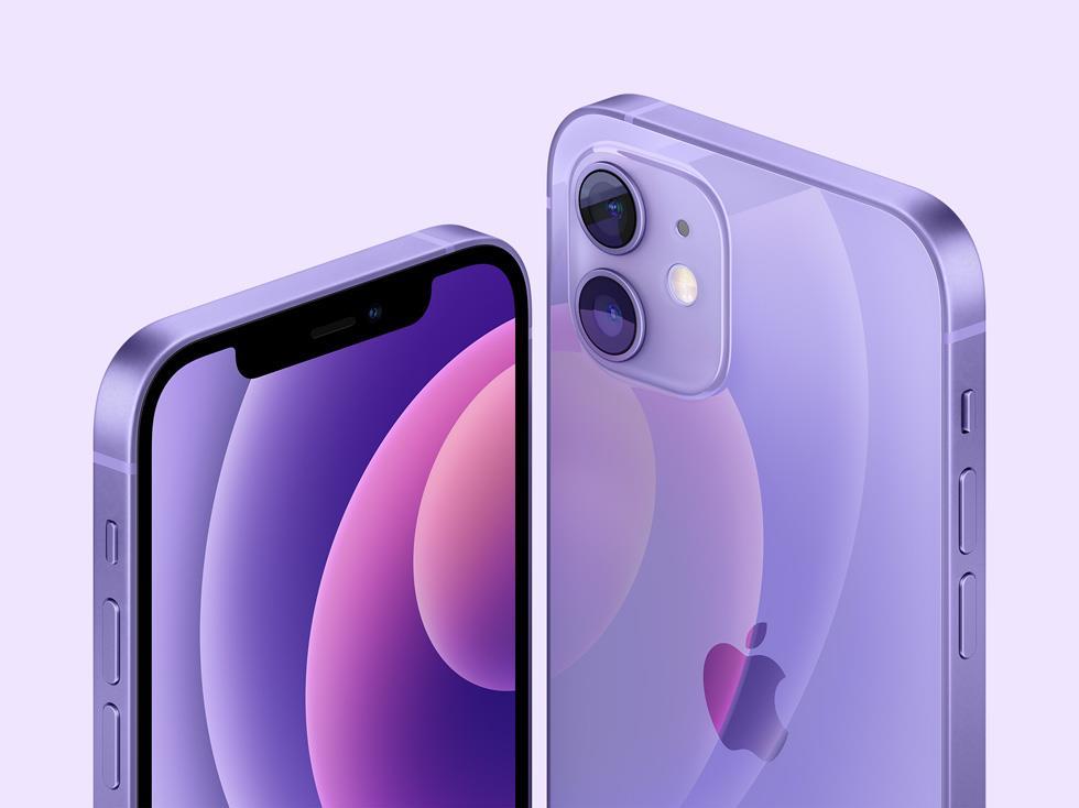 苹果全新紫色 iPhone 12/mini 搭载 iOS 14.5,支持佩戴口罩时用 Apple Watch 解锁